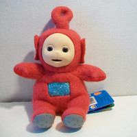 Teletubbies Po Beanie Toy 1996 Red Stuffed Doll BBC