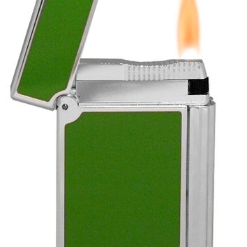 S.T. Dupont Ligne D Tropical Green Lighter - Made In France