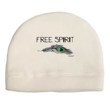 Graphic Feather Design - Free Spirit Child Fleece Beanie Cap Hat by TooLoud