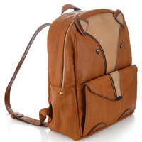 Fox PU Rucksack | Brown | Accessorize