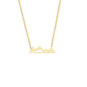 GORGEOUS TALE Boho Jewelry Gold Chain For Men Popular Alpine Necklace Mountain Symbolize Women Necklace Choker Collier Femme