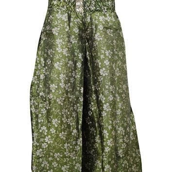 Mogul Women's Floral Hippie Skirt Silk Sari Split Long Maxi Skirts Festival Fashion: Amazon.ca: Clothing & Accessories