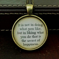 Peter Pan Neckalce. Like What You Do Quote Necklace. 18 Inch Chain.