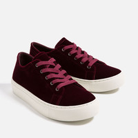 VELVET SNEAKERS - View all-SHOES-WOMAN | ZARA United States