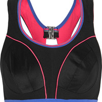 Shock Absorber - Ultimate Run mesh and stretch-jersey sports bra