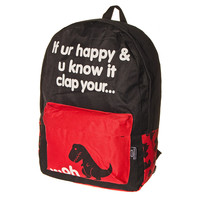 Blue Banana T Rex Backpack (Black/Red)