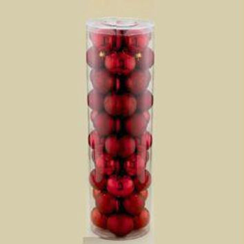 "200 Christmas Ball Ornaments - 2.25 ""  - Red"