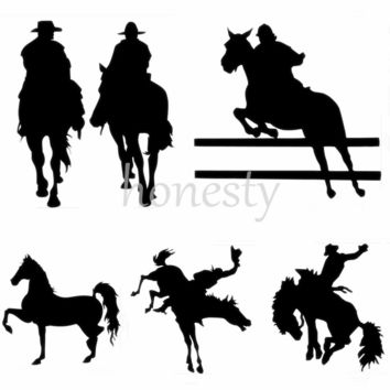 Bronco Rider Horse Cowboys Print Car Laptop Window Wall Bumper Vinyl Decal Sticker Gift
