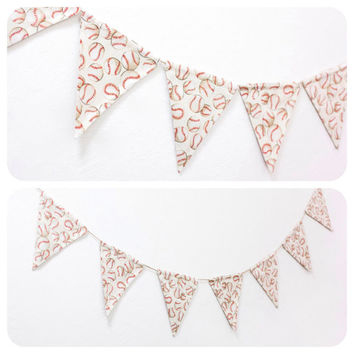Fabric Double-sided Bunting Pennant Flag Garland Banner Decoration Sports Boys Birthday Party Baby Room Decor Ball Game // Baseballs