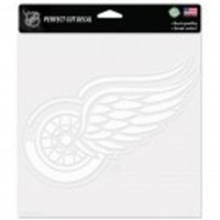 ONETOW NHL Detroit Red Wings 8 x 8 Perfect Cut Decal - White