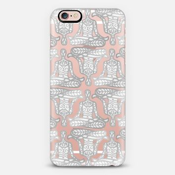 lotus pose mono transparent iPhone 6s case by Sharon Turner | Casetify