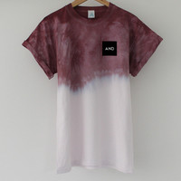 ANDCLOTHING — Burgundy Fuse Dip Dye Tee COMING SOON