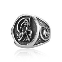 Sons Of Anarchy With Side Skulls Man Ring