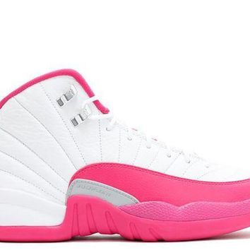 DCCKD9A Air Jordan 12 Retro GG 'White Vivid Pink' GS