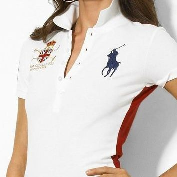 NEW POLO RALPH LAUREN SHIRT WOMEN SHORT SLEEVE T-SHIRT SIZE: S-XL-12