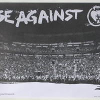 "RISE AGAINST RARE 2007 LITOGRAPH POSTER ""Live On Stage Picture"" 17X11"