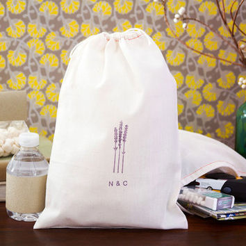 Personalized 10 Lavender Wedding Welcome Bags