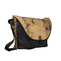 Stormy Fractal Large Messenger Bag