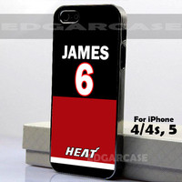 James Miami Heat - Photo on Hard Cover - For iPhone Case ( Select An Option )