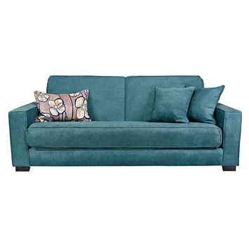 angelo:HOME Grayson Parisian Teal Blue Convert-a-Couch Futon Sofa Sleeper | Overstock.com Shopping - The Best Deals on Futons