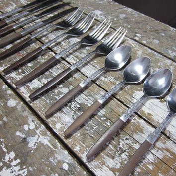 Danish Modern Silverware Modern Flatware Stainless Steel Flatware Vintage Silverware Interpur Stainless Steel Japan
