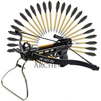 Rogue River Tactical 36 Black 36 Pistol Crossbow Arrows 50 - 80 Lb Cross Bow Bolts