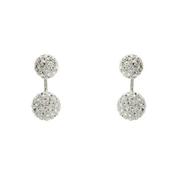 Sterling Silver Double Sided Crystal Earrings