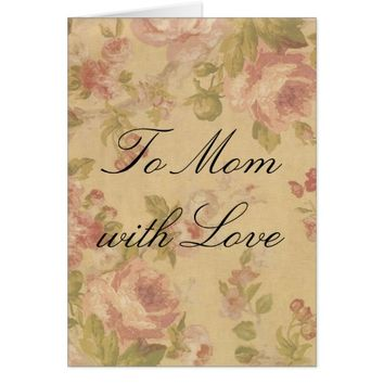 Roses Background Print Card