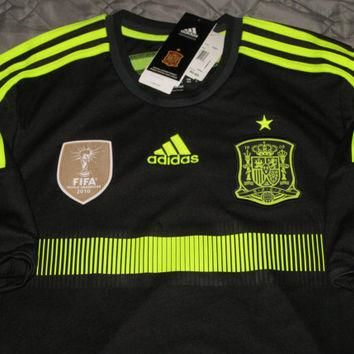 Nwt Usd 90 Adidas Spain Away 2014 Soccer Jersey World Cup Football Shirt Espana Size L