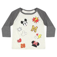 Disney Random Mickey Mouse And Minnie's Graphic Women's Grey T-shirt