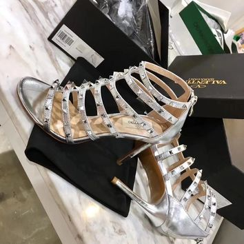 Valentino️ 2018 New Women Fashion Casual Low Heeled Shoes Sandals Shoes