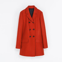 SHORT DOUBLE BREASTED OVERCOAT - Coats - WOMAN | ZARA United States