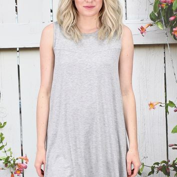 Oversized Swing Tunic Tank {H. Grey}
