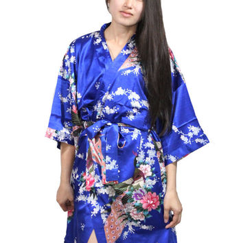 Monogrammed wedding Maternity robe Bridesmaid Personalized Robes Cotton Kimono Robe satin robes for bridal party bridesmaids kimono robes