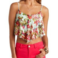 Aztec Print Lace Swing Crop Top by Charlotte Russe
