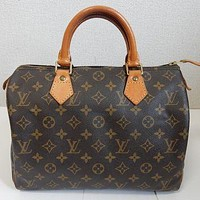 Tagre™ Auth Louis Vuitton Monogram Speedy 30 Bag Purse Browns SP0945 GH Pre-Owned