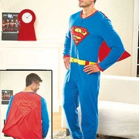 Men's Caped Superhero Union Suits