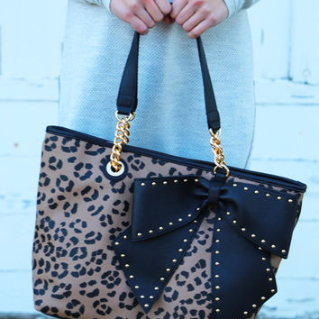 Betsey Johnson Bow-Lette {Leopard} Tote