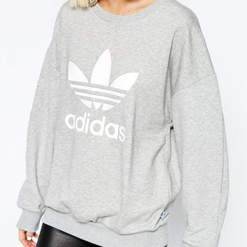 adidas Originals Adicolour Oversized Crew Neck Sweatshirt With Trefoil Logo