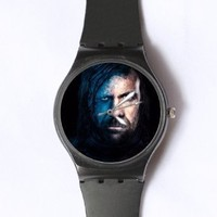 Custom Game of Thrones Watches Classic Black Plastic Watch WT-0819