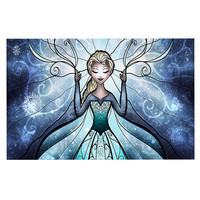 "Mandie Manzano ""The Snow Queen"" Frozen Decorative Door Mat"