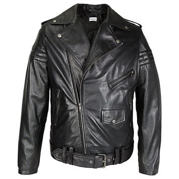 Mens Gavin Moto Leather Jacket - Very Popular
