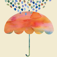 Rainbow Umbrella Art Print by Kanika Mathur | Society6
