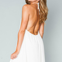 Show Me Your Mumu White Crisp Katy Halter Dress