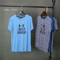""""""" Under Armour""""Fashion Print Casual Short Sleeve Shirt Top Tee Blouse G-A-XYCL"""