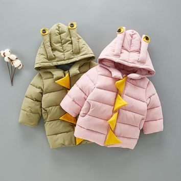 winter new baby padded jacket embroidered thickened newborn coat