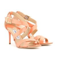 jimmy choo - louise patent-leather sandals