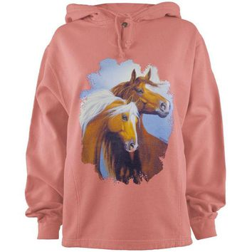 LMFCY8 Horses In The Wind Adult Pullover Hoodie