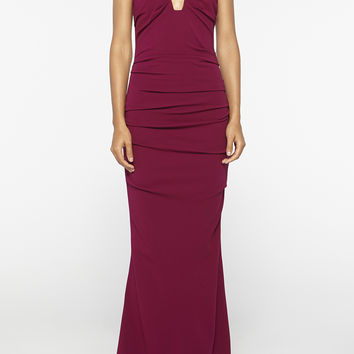 Plunge Structured Jersey Gown
