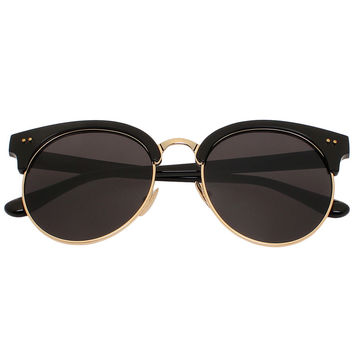 Black Cat Eye Round Sunglasses